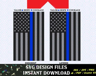 Thin Blue Line Flag SVG Vinyl Cutting Decal, for Mugs, T Shirts, Cars  SVG files for Silhouette Cameo Cut Files,  SVG  Decal