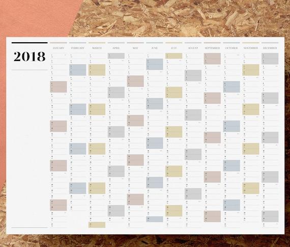 Blank Calendar 2019 Printable Word Excel PDF with Holidays ...