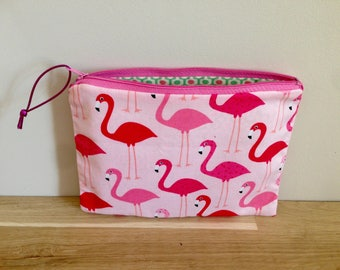 Clutch / pouch pink Flemish - pink and Mint