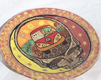 "10"" Painted Steelie Plate"
