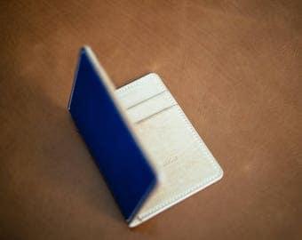 Vertical Bifold Wallet, natural vitellino calf leather, elegant wallet, free delivery