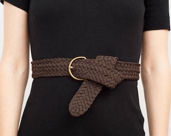 Textile Braided Chocolate Belt