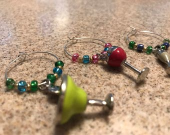 Alcohol-Themed Wine Charms