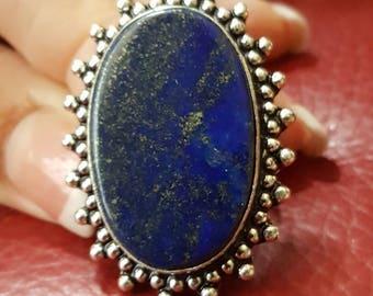 Lapis Lazuli Ring - size 8.5!