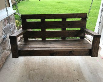 customized wooden porch swing - Wooden Porch Swing