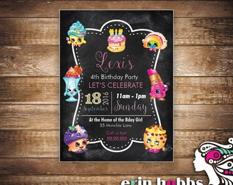 Shoplins Birthday Invite