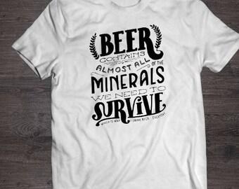 Funny Beer shirt- white- beer shirt- tshirt