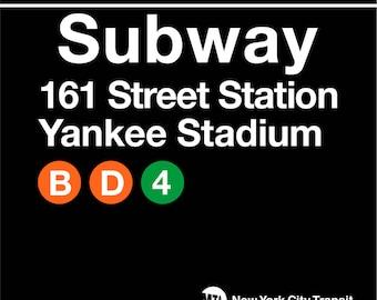 NYC Subway Station 161st St. Yankee Stadium Wood Coaster