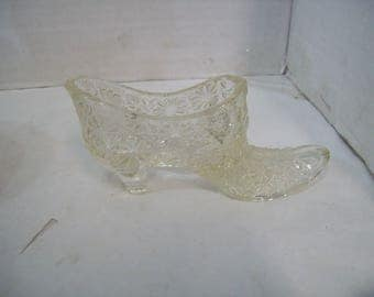 Fenton Clear Daisy & Button  Shoe Slipper, Free Shipping