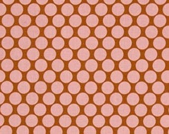 END OF BOLT Sale Amy Butler Lotus Full Moon Polka Dot in Camel Pink Fabric - Fabric by the Yard - Spot Dot Fabric - Quilt Fabric - 25 Inches
