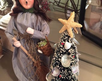 Byers Choice Sea Witch/Seashell Christmas Tree