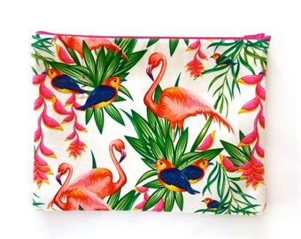 Exotic pink Flamingo clutch