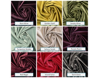 Pinch Pleat Velvet Curtains: 20 Colors, Any Size, Six Heading Styles, Free Shipping