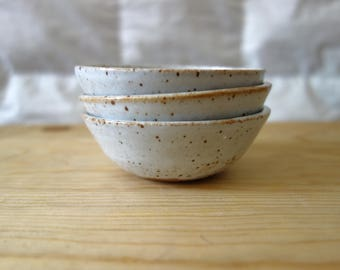 White Speckled Prep Bowls (set of three)
