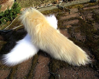 Any Color Fluffy Plush Wolf Tail Furry Cosplay