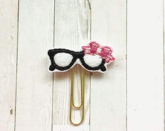 Girly Hipster Need Glasses Planner Clip - Bookmark - Summertime - Nerdy Gifts - Planner Accessories - Teacher Appreciation