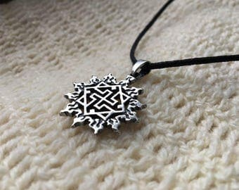 VALKYRIE PENDANT in SUN Solid Silver Sterling 925 Ethnic