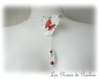 Back Fleur Butterfly Katell white red wedding jewelry