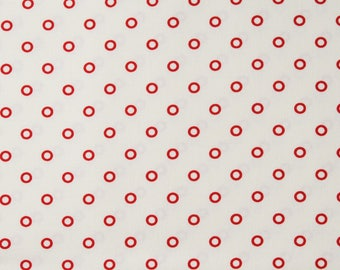 "Moda ""Hello Darling"" by Bonnie and Camille ~ CIRCLES ~ Cream Red 55115 14 ~ Half Yard Increments"