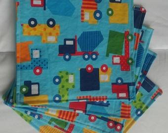 Cloth napkins set of 5 school lunch Kid-friendly zero waste