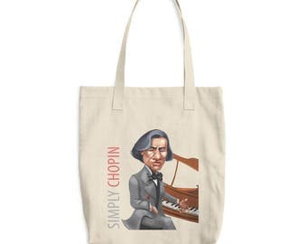 Simply Chopin Cotton Tote Bag