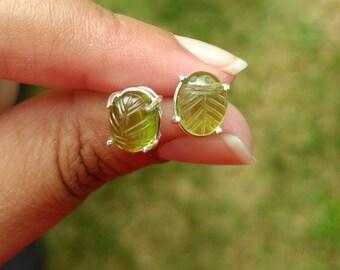Peridot Earrings, Peridot Earrings Sterling Silver, Peridot Stud Earrings, Sterling Silver Earrings, August Birthstone, Peridot Jewelry
