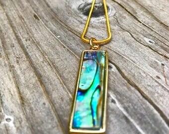 Abalone pendant, abalone jewelry, abalone shell necklace