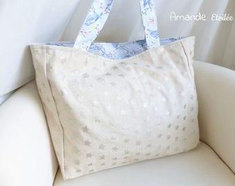 Bright Stars x Blue birds shoulder bag Tote
