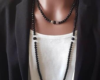 """The elegant black"" necklace"