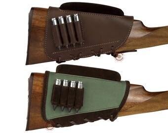 Buttstock Cartridge Holder, Ammo Pouch, Rifle Buttstock Holder, Cartridge Holder, Leather Buttstock Cartridge Case, Shell Case