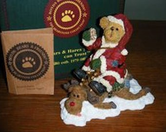 New in Box Boyds Bears, Bearstone Collection. JOLLY OL' ST. Pudgenick n Pancake.