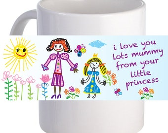 "Personalized ""Love Mummy Lots"" Beautiful Coffee Mug With Custom Message"