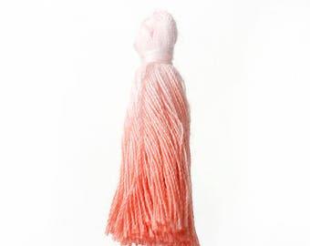 "Tassel ""tie & dye"" pink and white 35 mm"