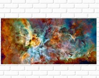 ON SALE Carina Nebula - High Resolution - HD - Photo - Panorama - Photograph - Nasa - Print - Photography - Space - Outerspace - Nebula - Ga