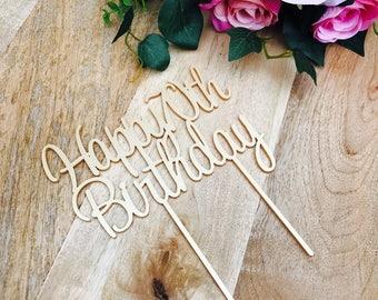 Happy 70th Birthday Cake Topper 70th Topper Cake Decoration Cake Decorating Personalised Cake Toppers Birthday Cake Topper SWTHRT Sugar Boo