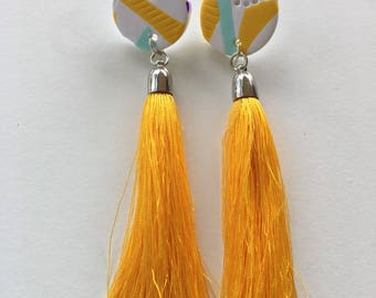 Gorgeous Yellow Tassel with Yellow Detail