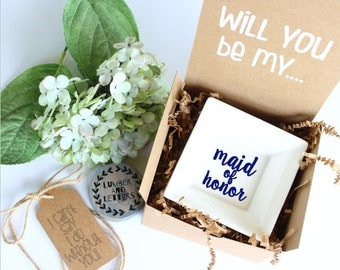 Maid of Honor Ring Dish Gift - Will You Be My Maid of Honor - Maid of Honor Proposal - Gift for Maid of Honor - Maid of Honor Gifts