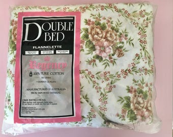 New in bag vintage sheet set double bed