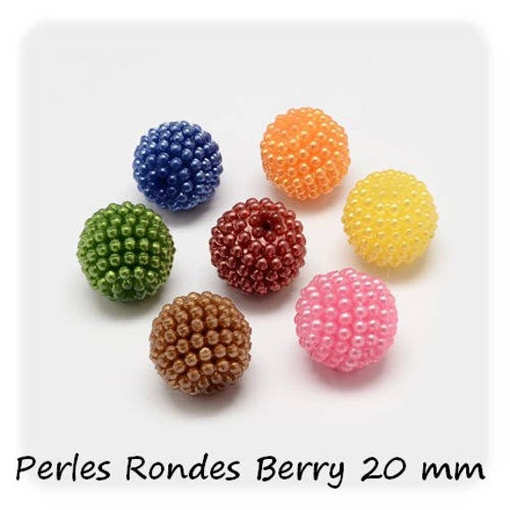 Combined [Berry] 1 x 20 mm round beads