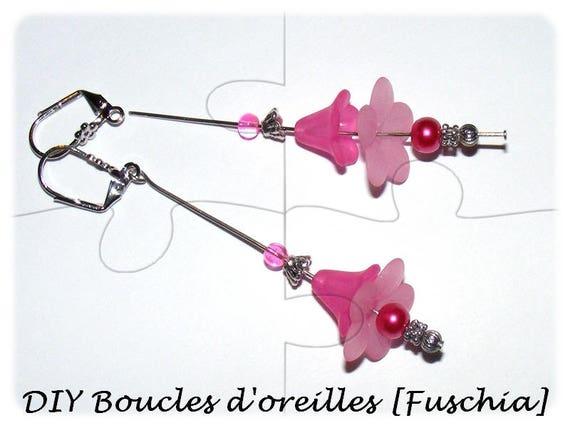 "Kit ""Mother"" earrings to make yourself [Fuchsia]"