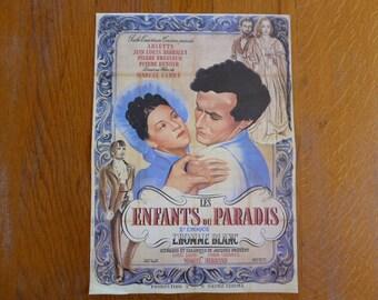 Vintage French Cinema Poster Print, Les Enfants du Paradis, Pathé Cinéma, Film Publicity 1017035-403