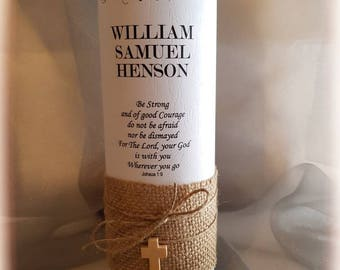 Personalised Holy Communion  Candle / Confirmation Candle