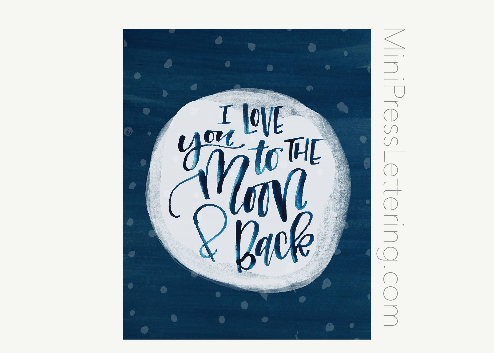Quote I Love You To The Moon And Back Instant Download I Love You To The Moon And Back Printable