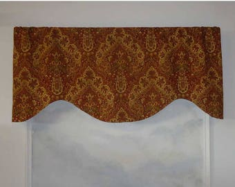 Mill Creek Raymond Waites Ashanti Wine Medallion Valance