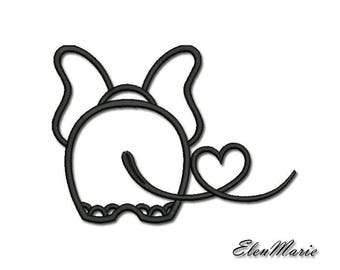 Machine Embroidery Design -Elephant in love,Embroidery elephant 4*4  5*5  6*6   AE 002