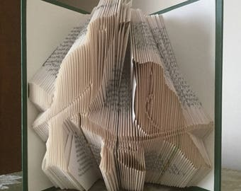 Folded Book Art - Birds on a Branch
