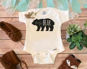 BABY BEAR Onesie®, Little Brother Shirt, Hipster Baby Onesie, Boho Baby Clothes, Newborn Onesie®, Baby Shower Gift, Bodysuit, Rustic Baby