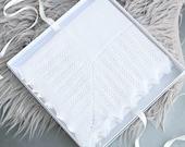 Baby Shawl made from Merino Wool  Baby Blanket  Christening Shawl  Baby Shawl  Pure Wool Baby Shawl  Christening gift  New Baby Gift