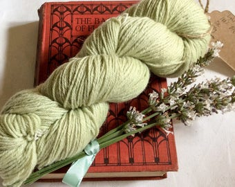 Light sage green, pure BFL DK yarn