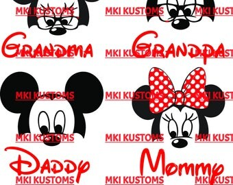 Disney Svg/ Mickey Mouse svg/ Minnie Mouse svg/ Disney Family Svg/ Disney Mickey Mouse Svg/ Cricut files svg/ mickey Minnie silhouette svg